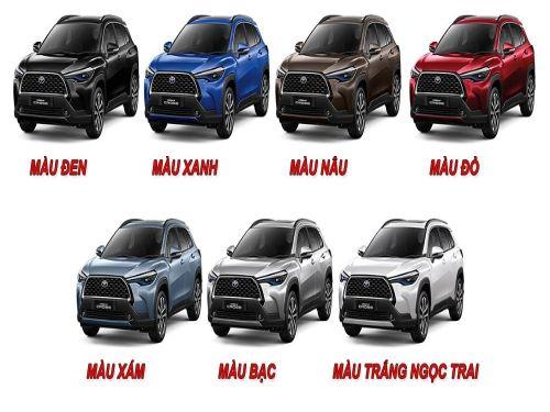 Hình minh họa: Toyota Corolla Cross 2021 với 7 màu sắc