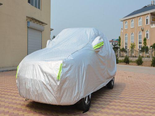 Hình minh họa: Vải bạt che xe ô tô tráng nhôm 3 lớp